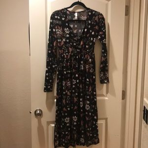 Long Sleeve Flower Dress